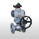 GB/DIN Floating Cast Steel Ball Valve PN40