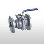2PC Stainless Steel Ball Valve Full Port  Flange Ends PN10-40