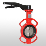 B12W-SX Wafer Type 2pcs Stem Butterfly Valve